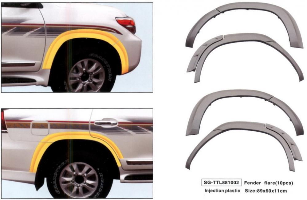 Расширители колесных арок Lada Niva 3-дверная под стандартные арки
